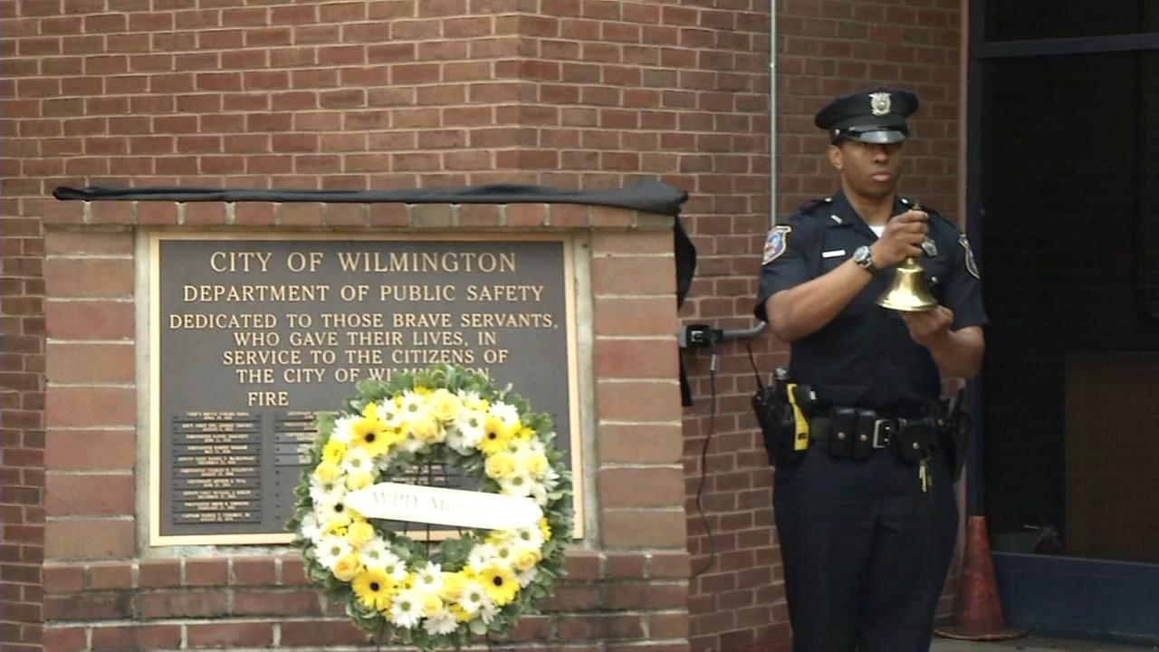 Ten fallen officers were honored in Wilmington Friday.