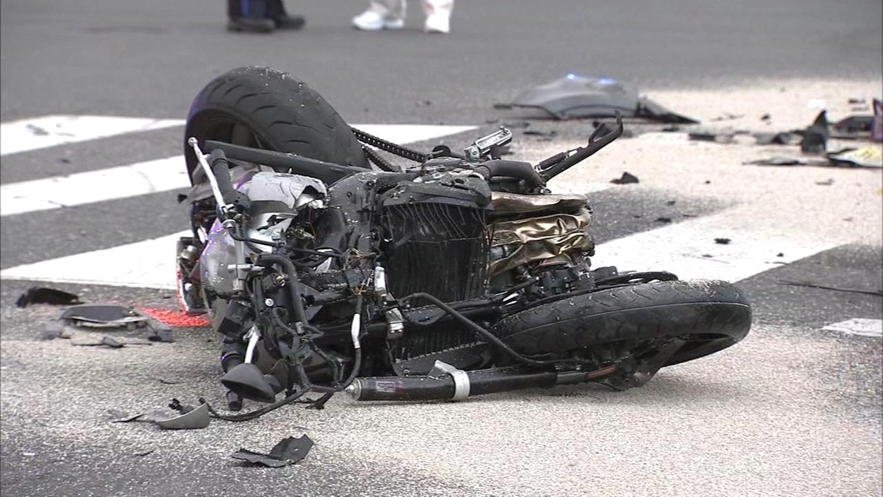 Biker killed in crash outside Citizens Bank Park