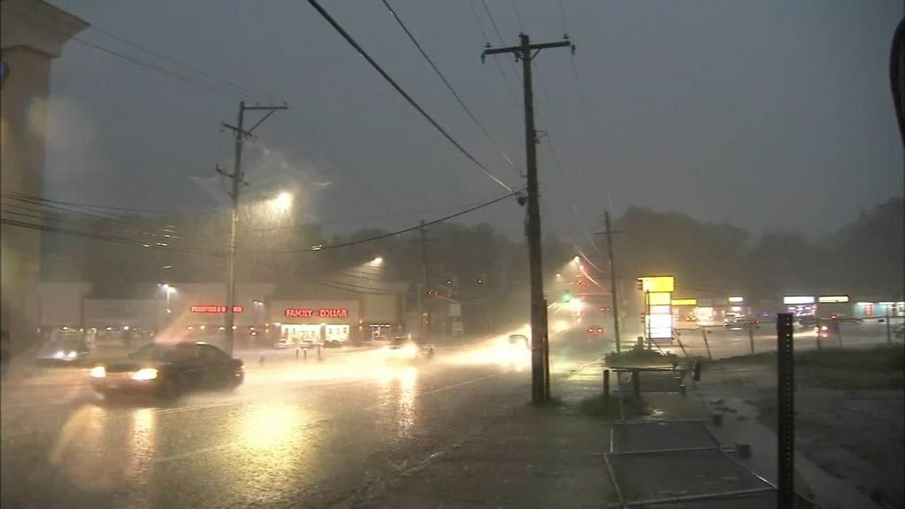 Severe quick moving storm hits the Delaware Valley