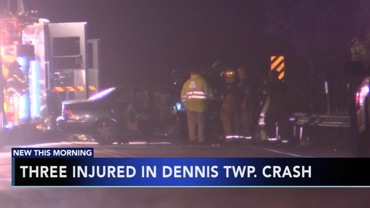 3 injured in Dennis Township crash