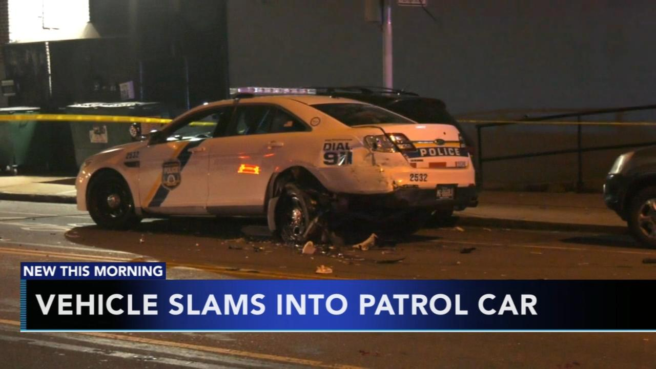 Vehicle slams into patrol car