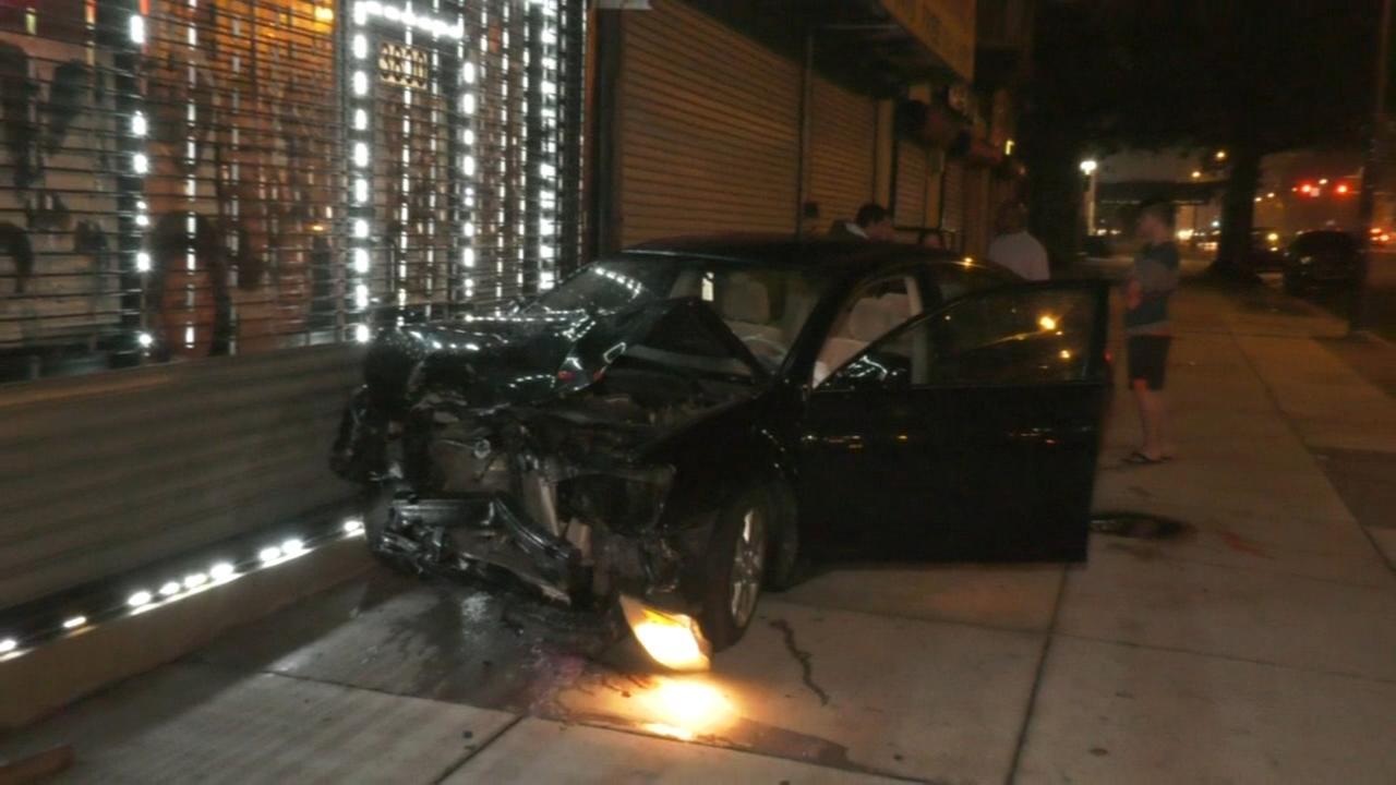 Head-on collision on Broad Street