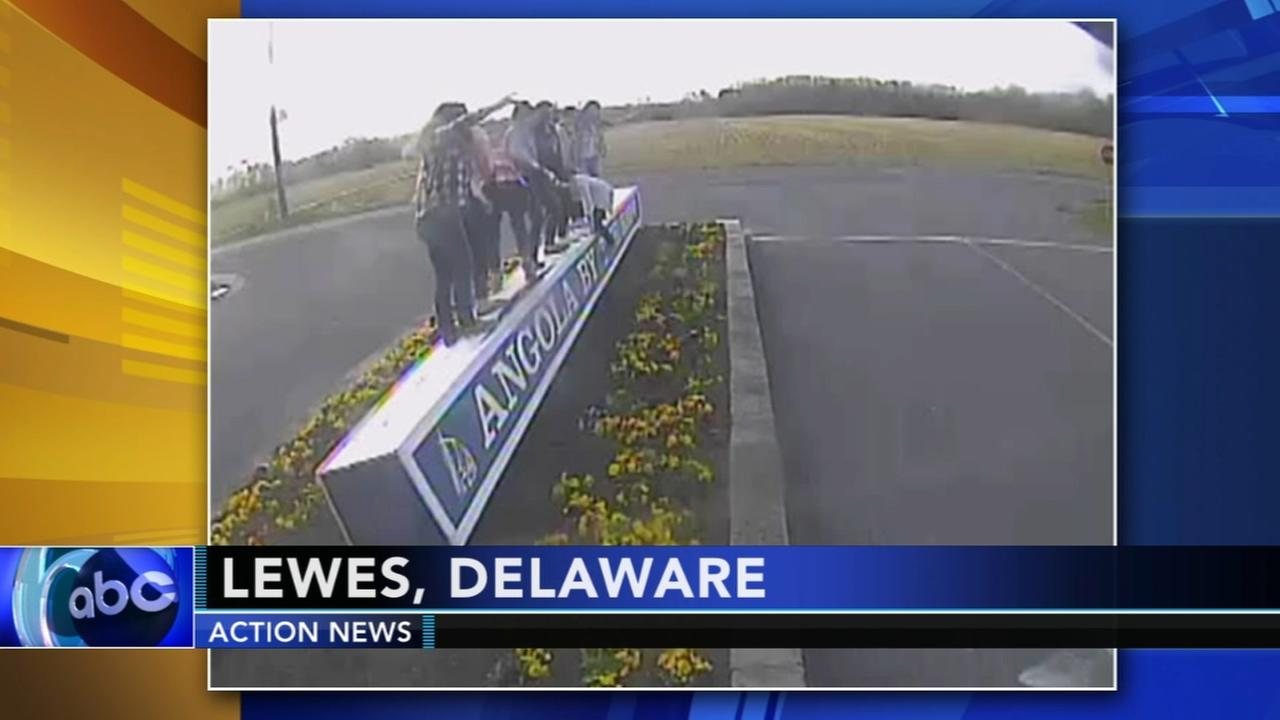 Police search for sign vandals in Delaware