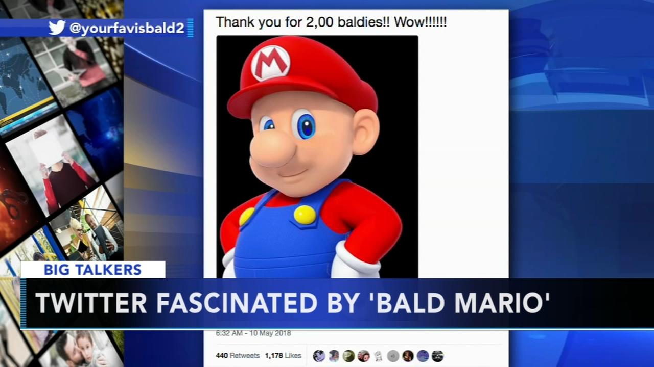 Bald Mario takes Twitter by storm