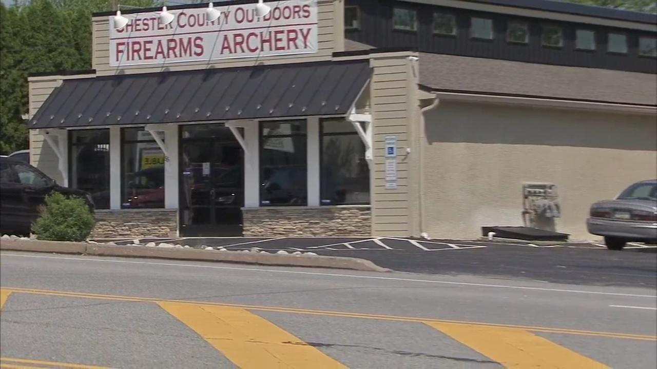Gun shop burglary in Chester Co.