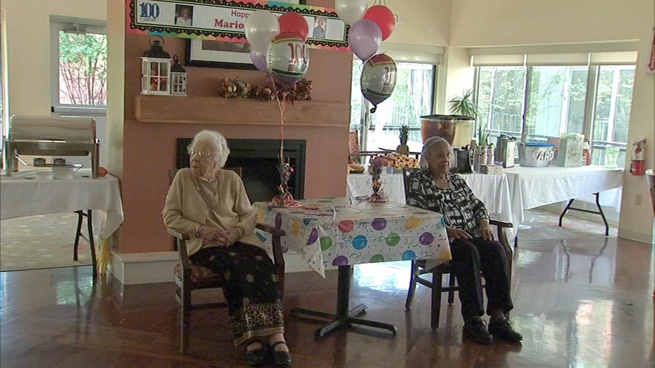 Childhood friends celebrate their 100th birthdays together