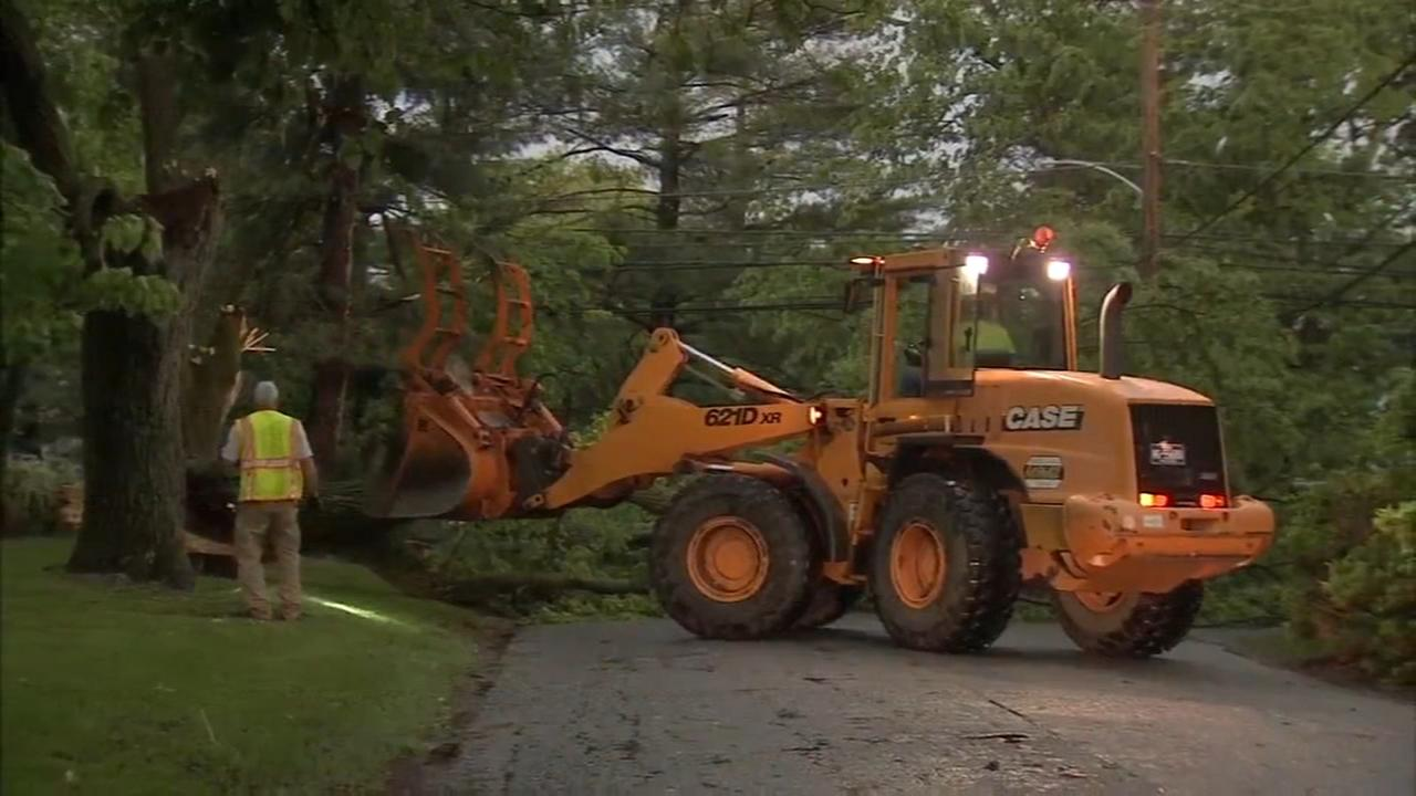 Cleanup efforts underway after damaging storm