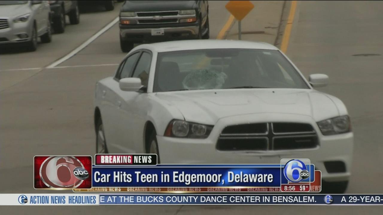 VIDEO: Teen struck by vehicle in Edgemoor, Delaware