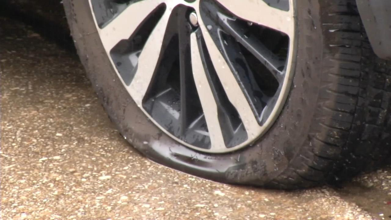 RAW VIDEO: Tires slashed in Newark, Del.