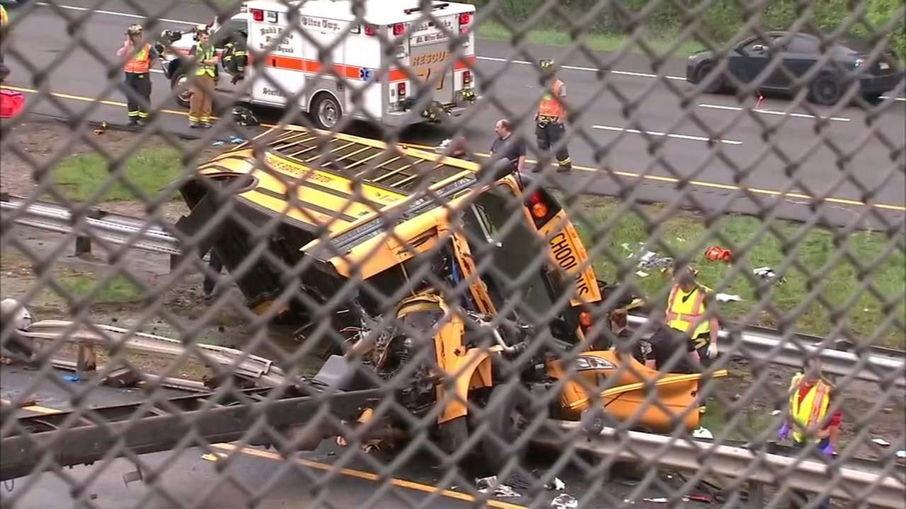 Teacher, student killed after school bus and truck collide in New Jersey