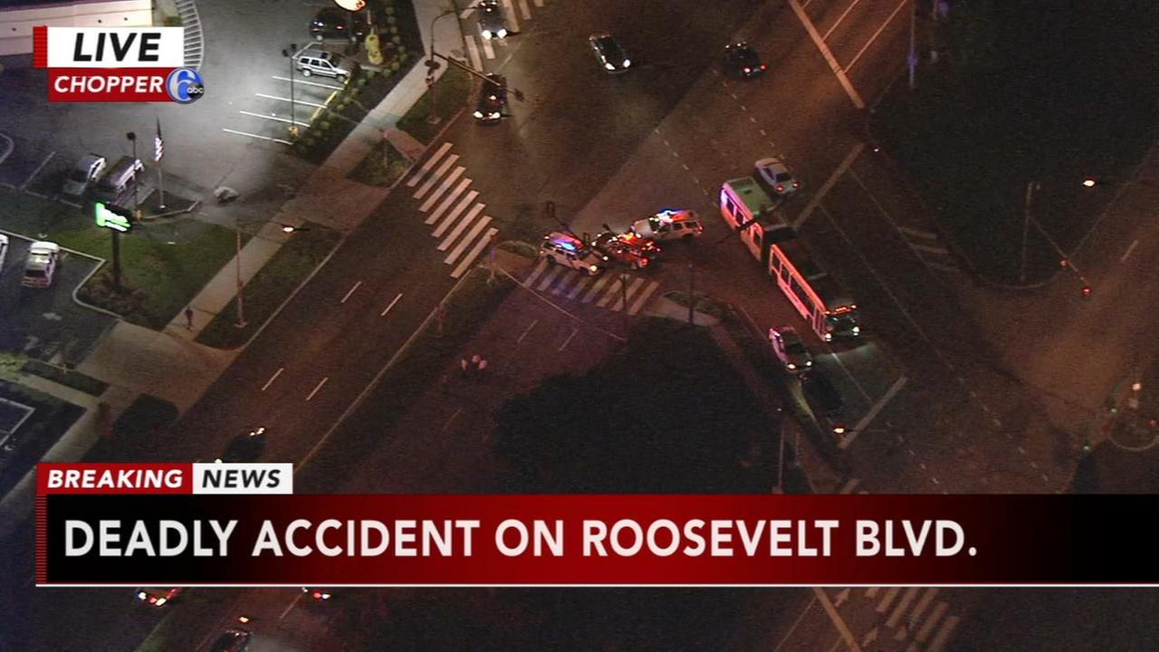 Pedestrian struck, killed on Roosevelt Boulevard in NE Phila.