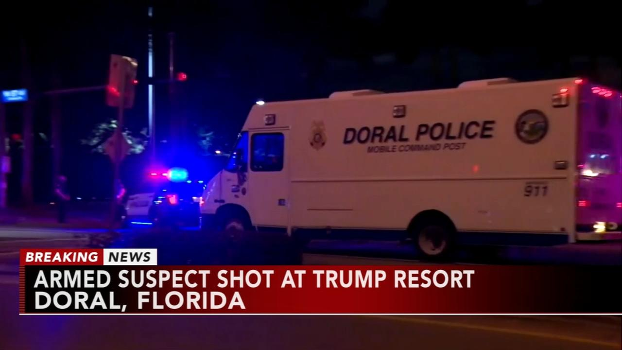 Armed suspect shot at Trump resort in Florida