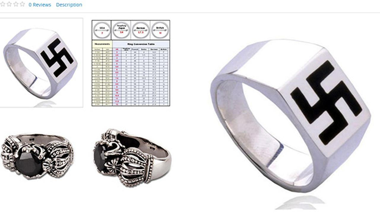 Sears lists swastika ring on website