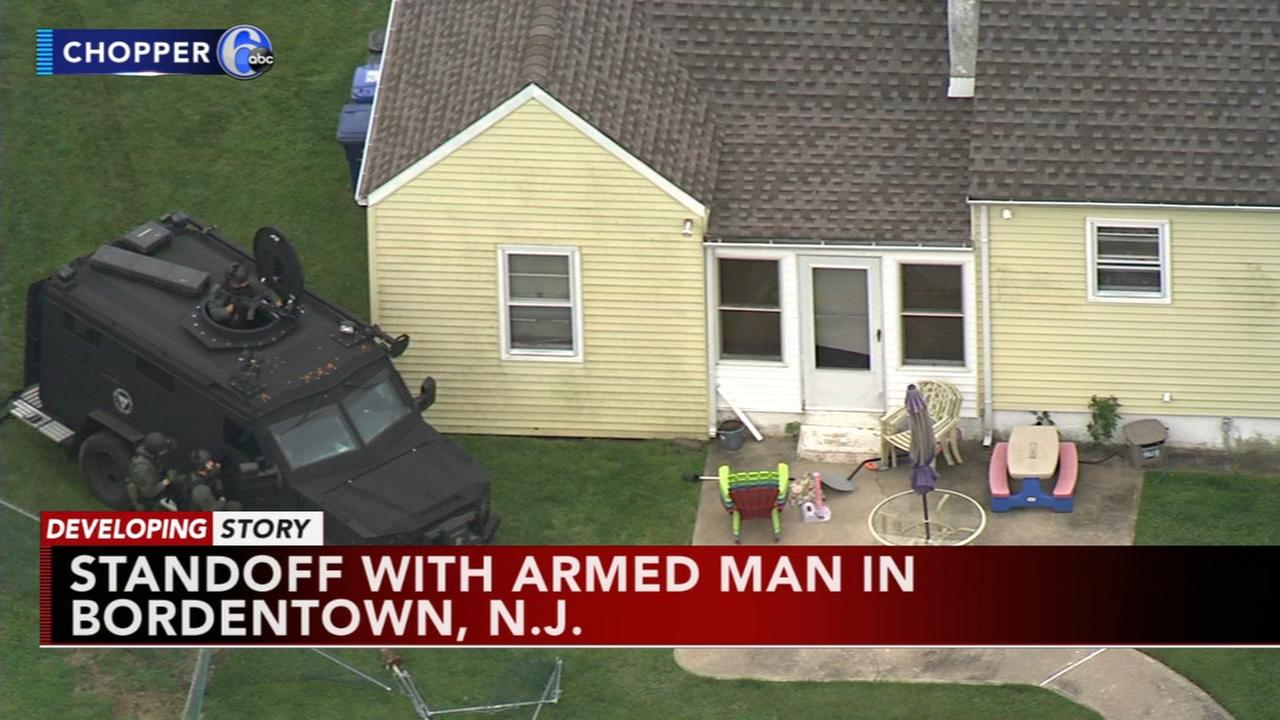 SWAT team locked in standoff with armed man in Burlington Co.