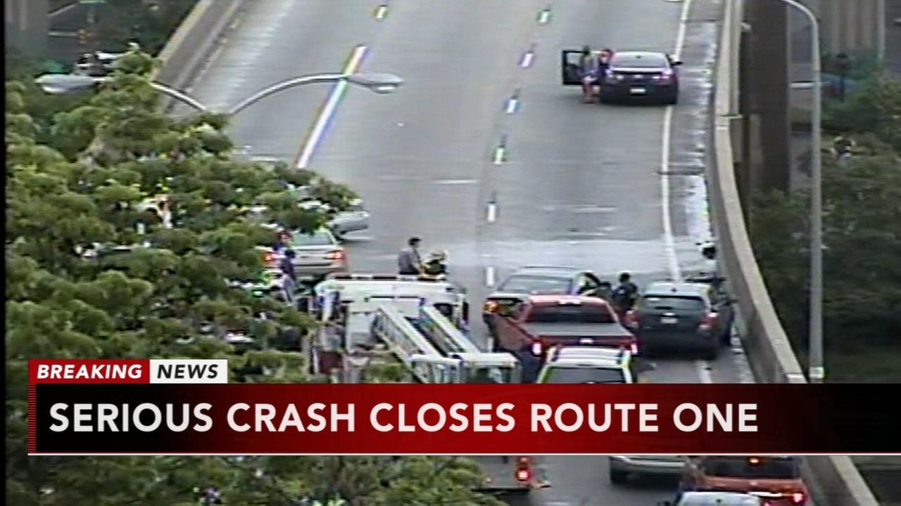 Crash shuts down Route 1 at I-76