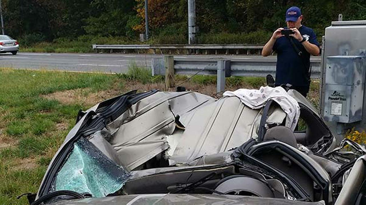 PHOTOS: Deadly crash on I-95 in Bensalem