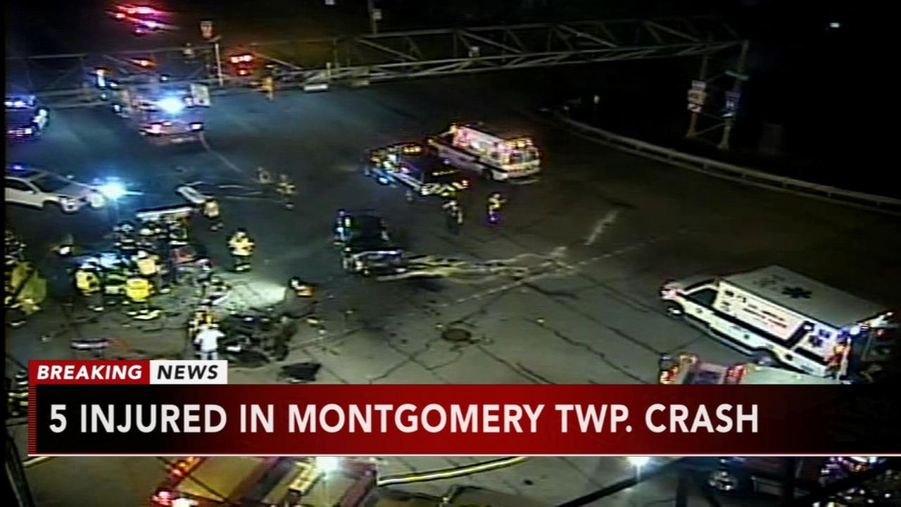 5 injured in Montgomery Twp crash