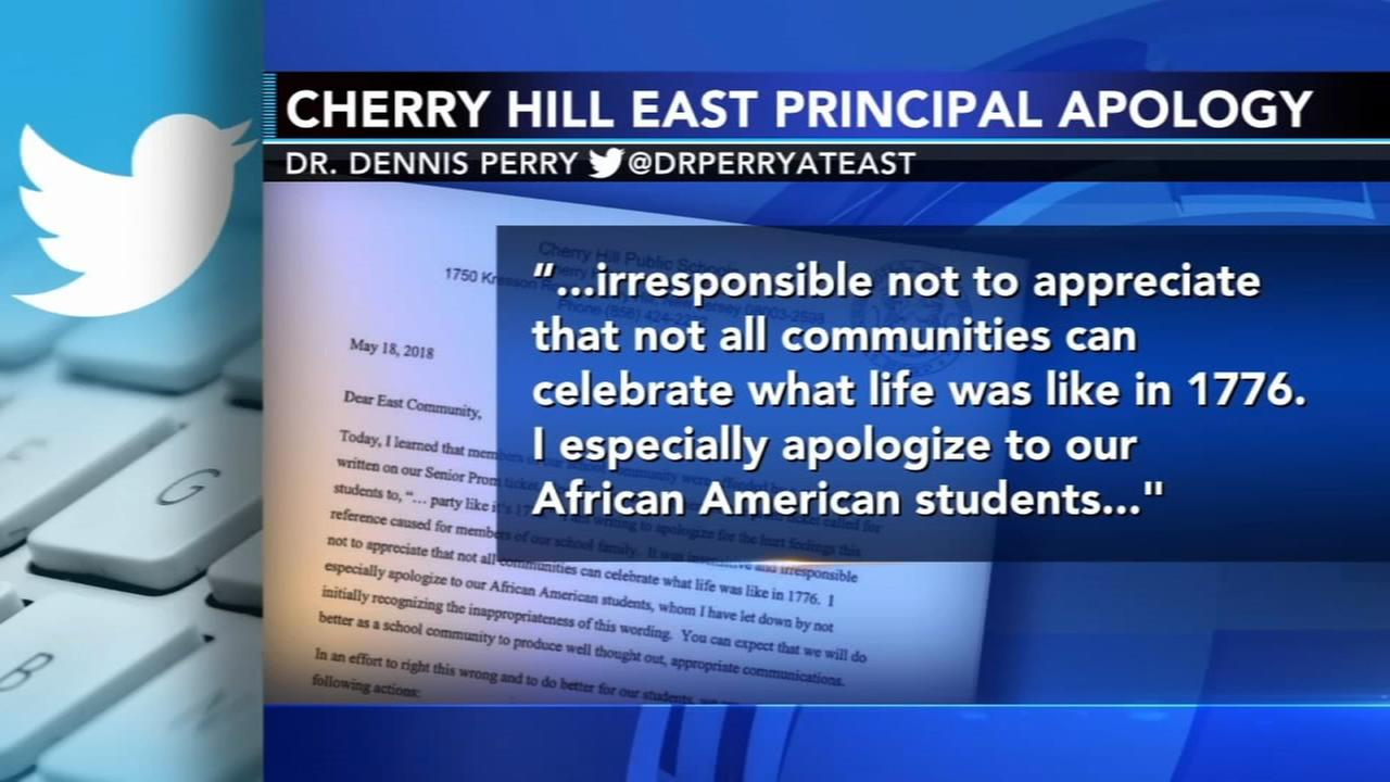 Cherry Hill East principal apologizes