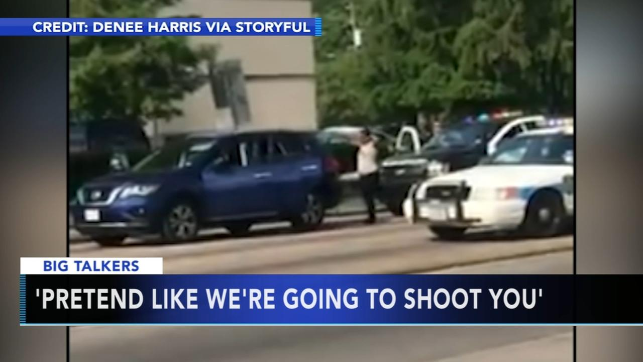 Houston officer tells woman to put hands up and pretend like were going to shoot you