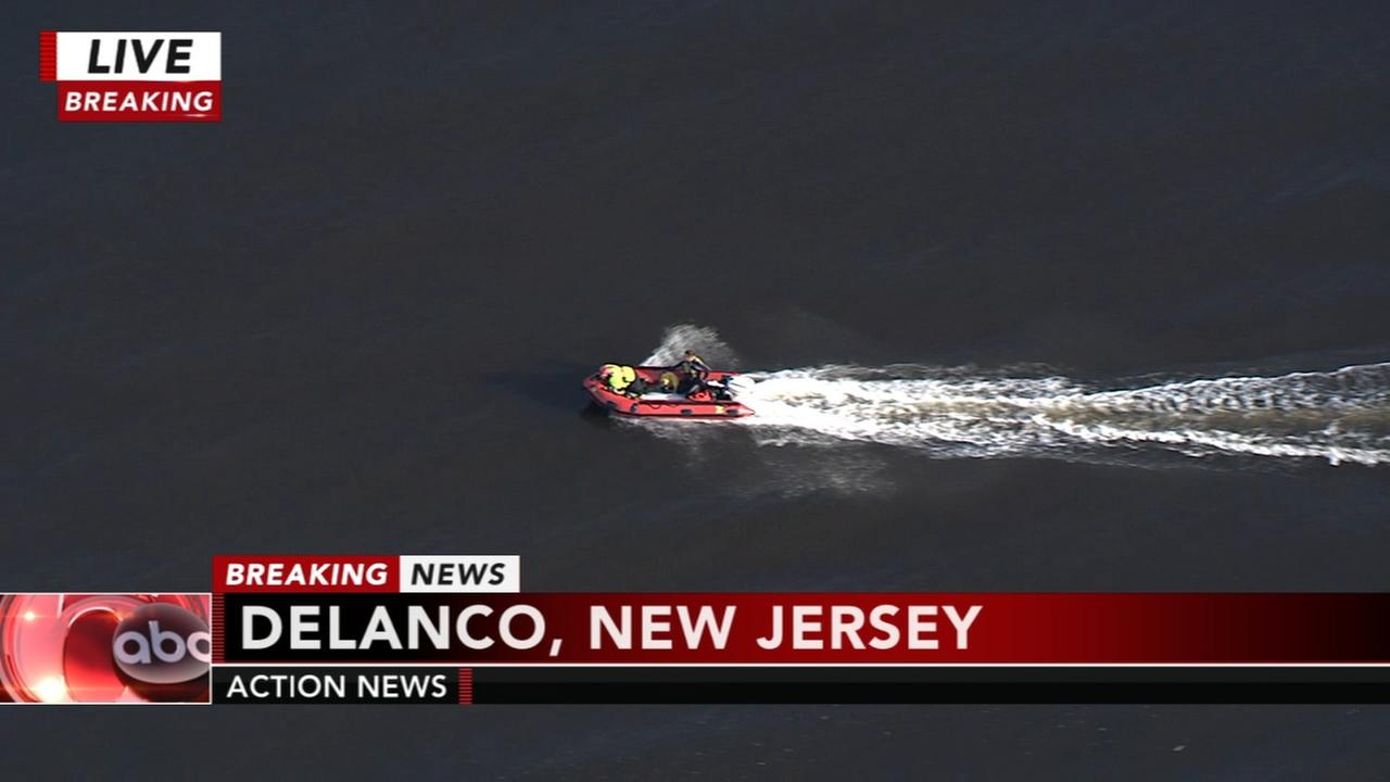 Water rescue underway in Delanco