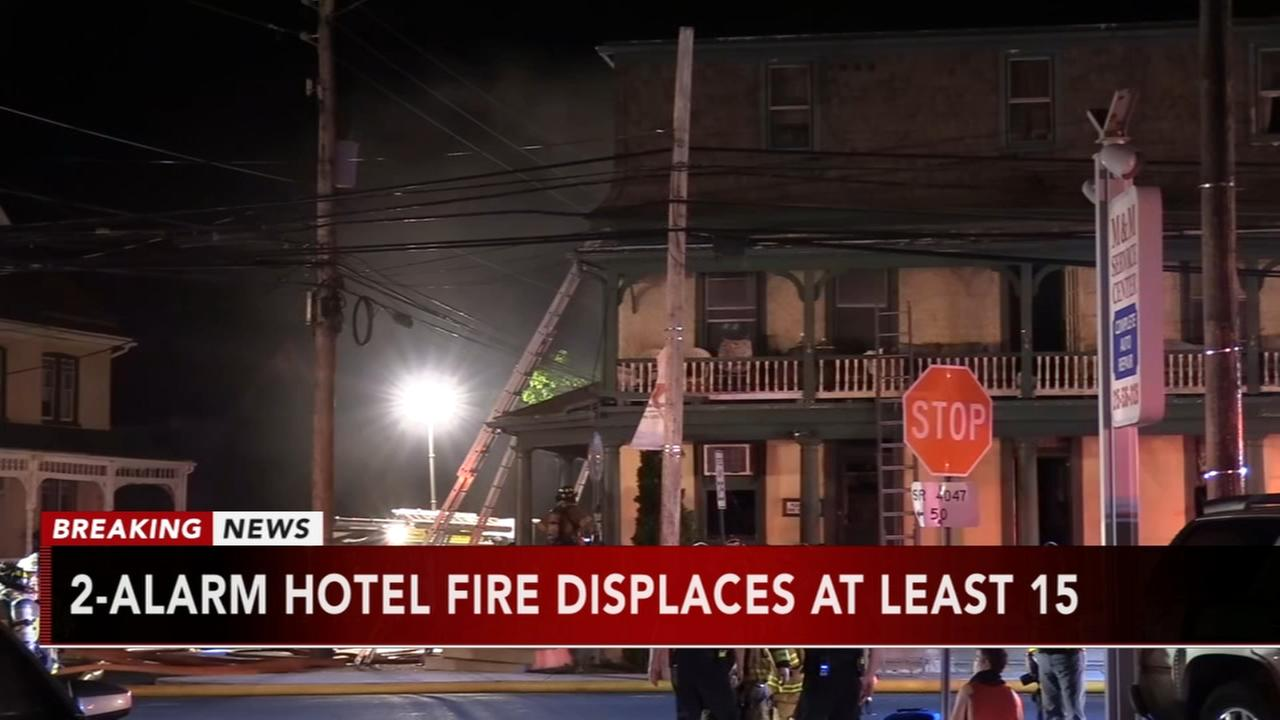 2-alarm hotel fire displaces 15