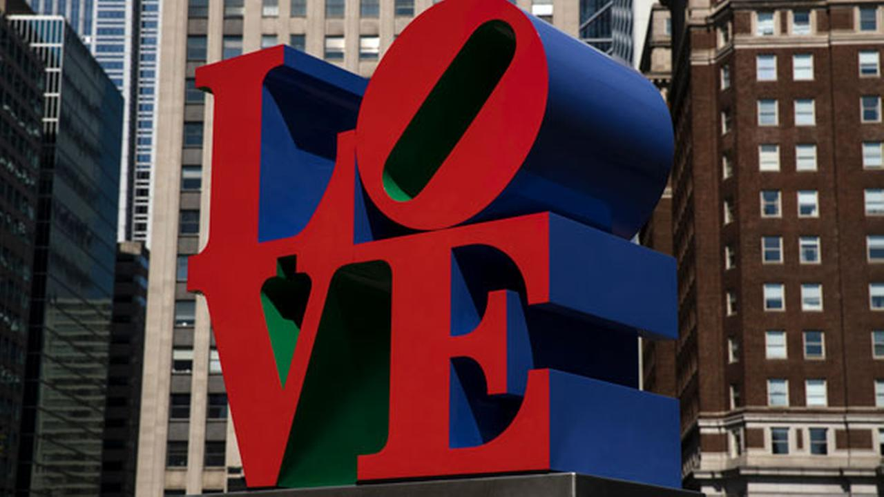 hown is the Robert Indiana sculpture LOVE in John F. Kennedy Plaza, commonly known as Love Park, in Philadelphia, Monday, May 21, 2018.