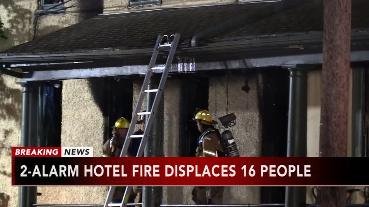 Fire at historic Bucks County hotel displaces 16