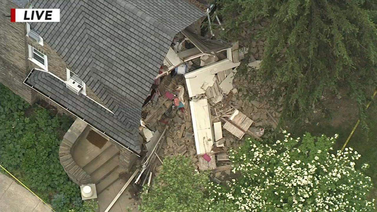 Partial collapse in Mt. Airy