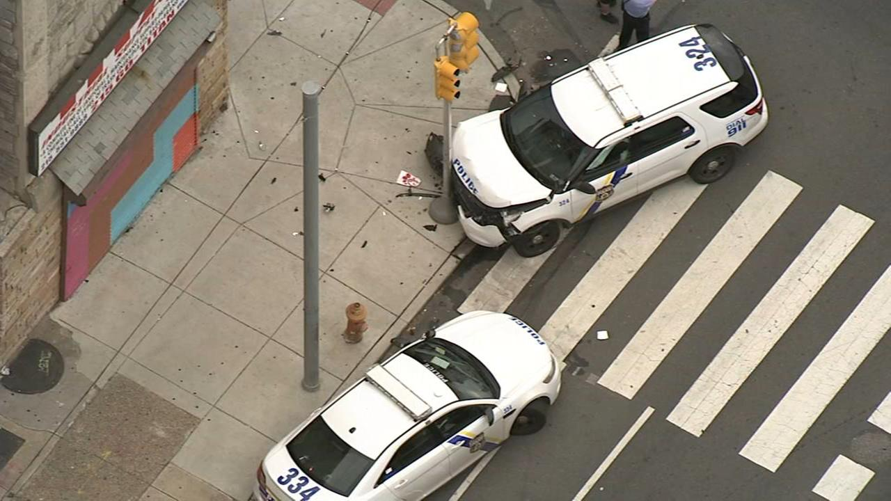 Crash involving Phila. police vehicle