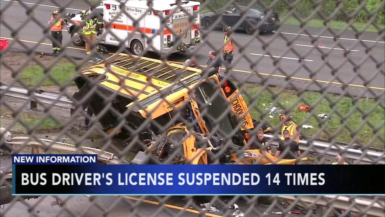 Bus driver had history of license suspensions