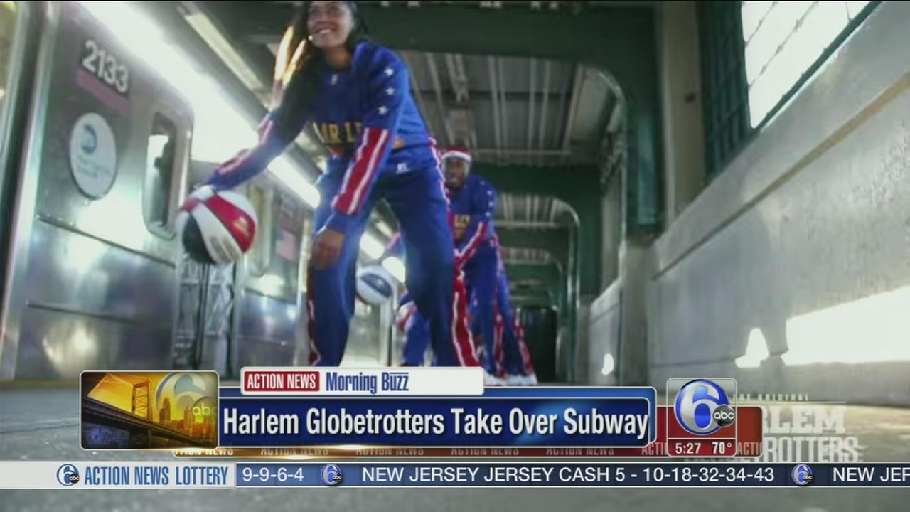 VIDEO: Harlem Globetrotters take over NYC subway