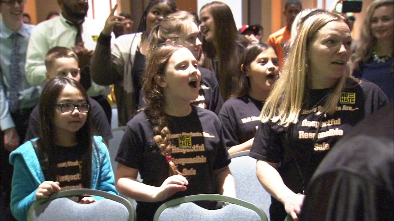 300 students, from across the region, were recognized by the Anti Defamation League.