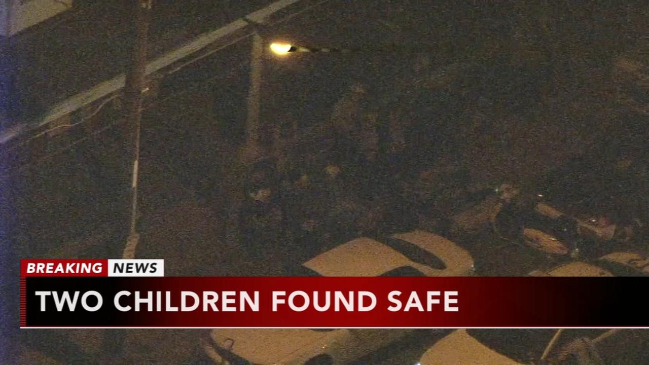 2 kids found safe after police chase