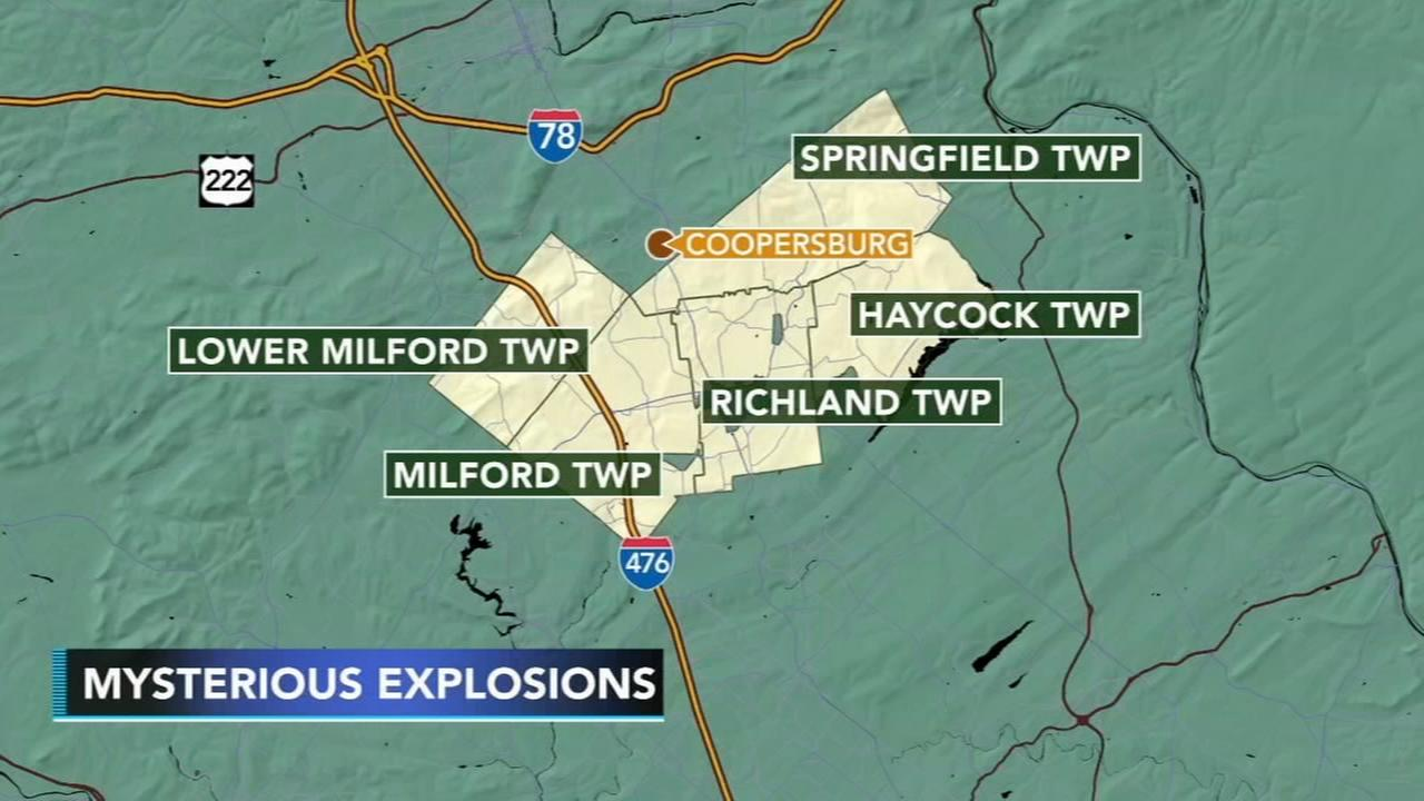 Mysterious explosions heard in Bucks, Lehigh counties