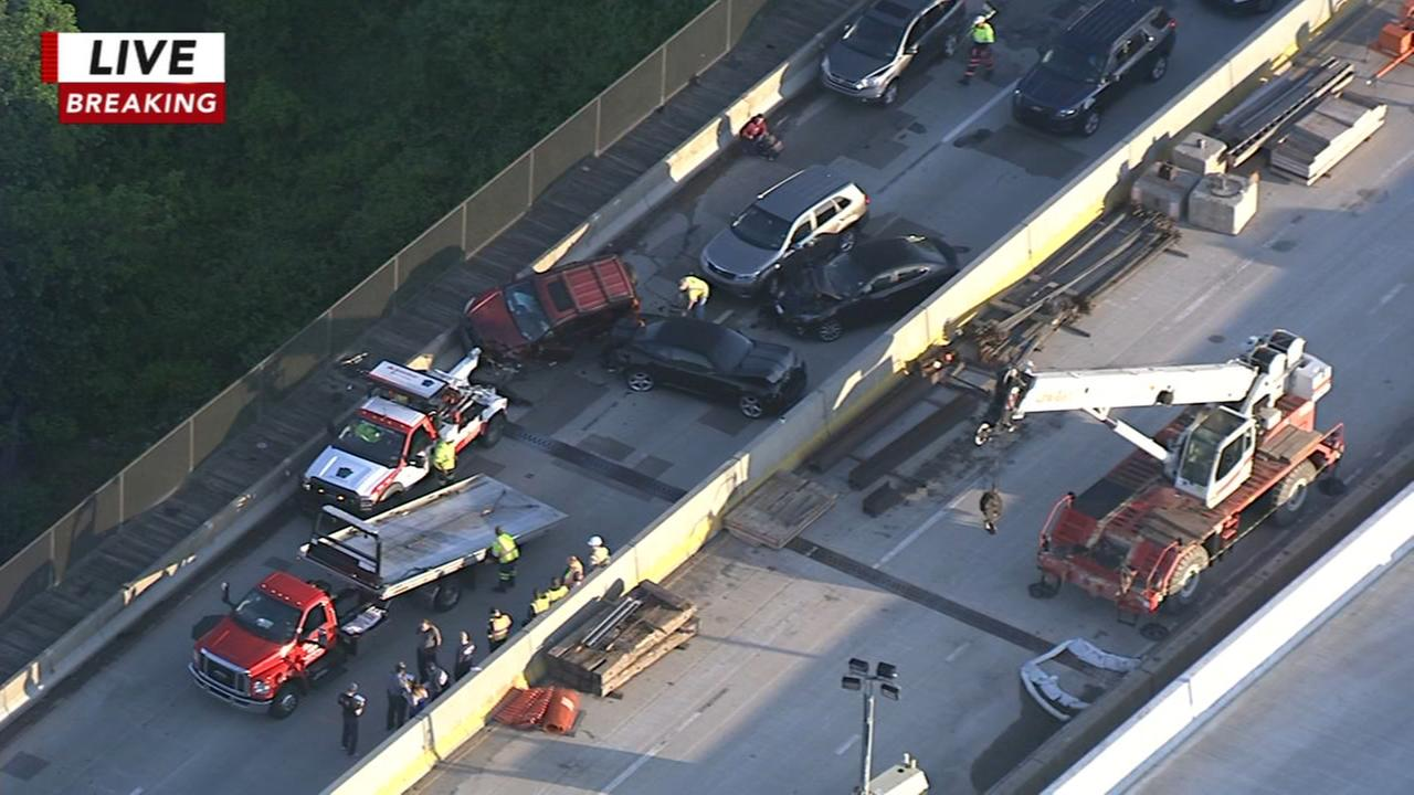 Chopper 6 over multi-vehicle crash on Route 422