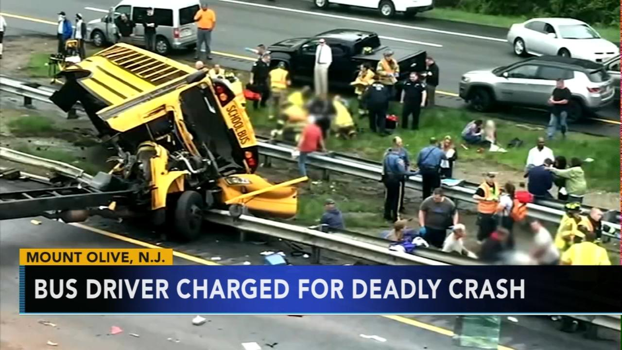 School bus driver charged in crash that killed teacher, student in New Jersey