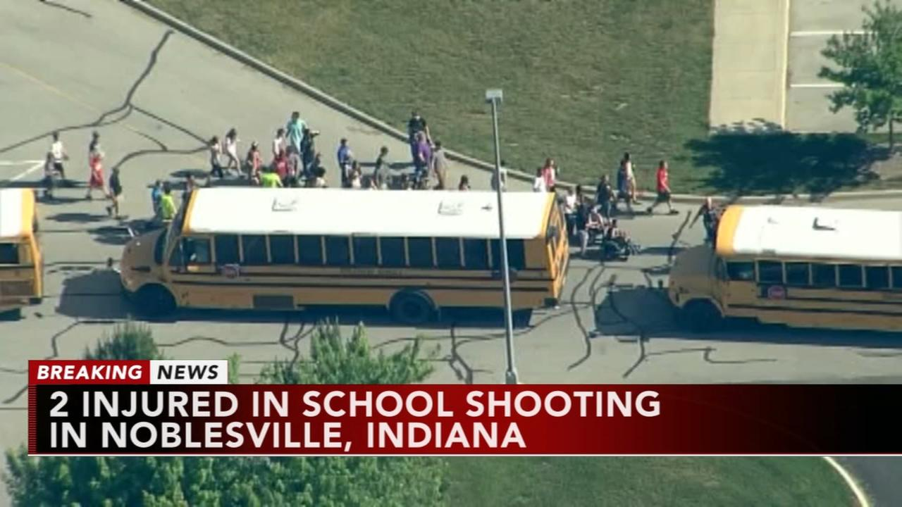2 hurt in Indiana school shooting; suspect in custody