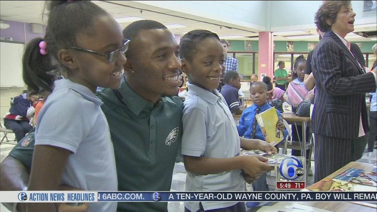 VIDEO: Eagles Brandon Boykin advocates for child literacy