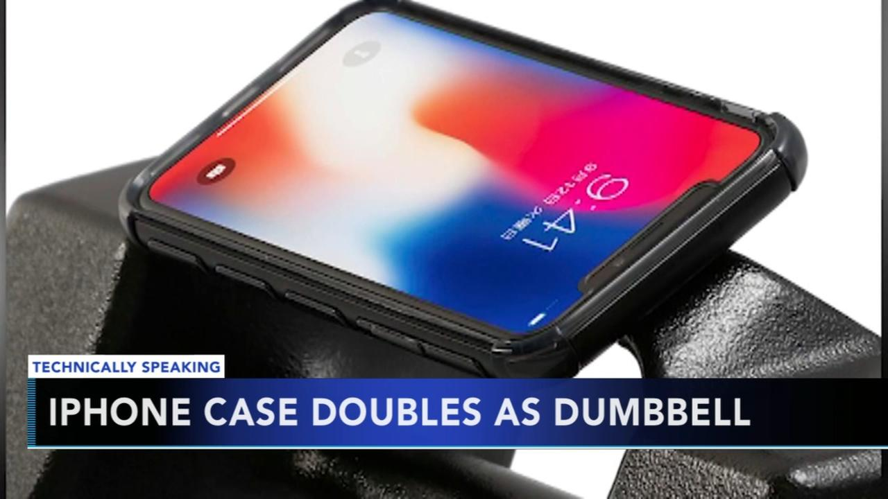 iPhone case doubles as dumbbell