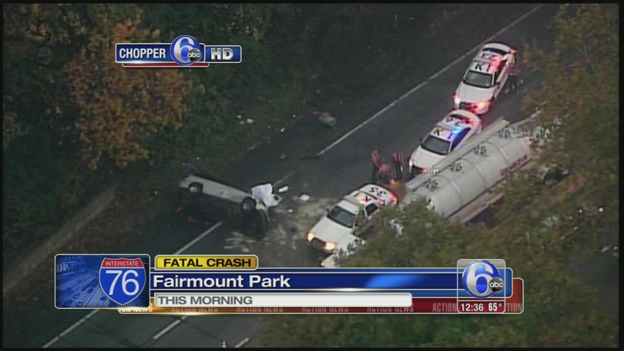 VIDEO: Fatal crash on Schuylkill Expressway