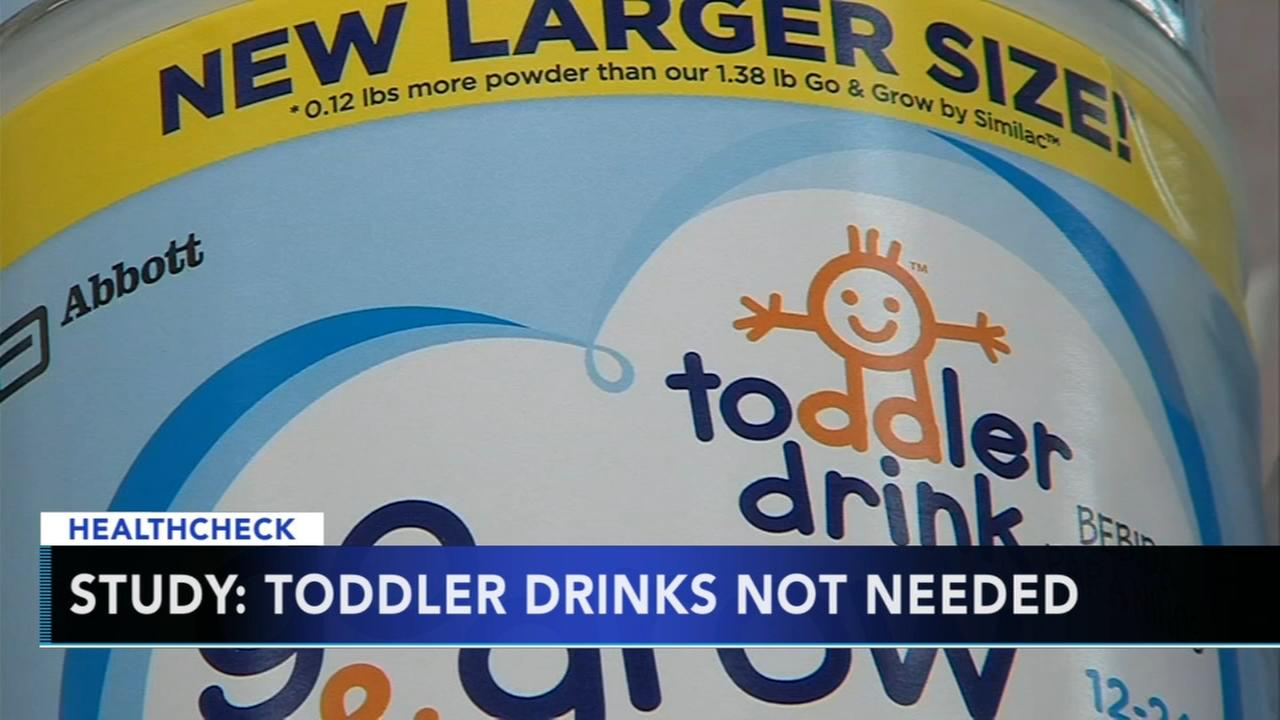 Study: So-called toddler drinks not necessary