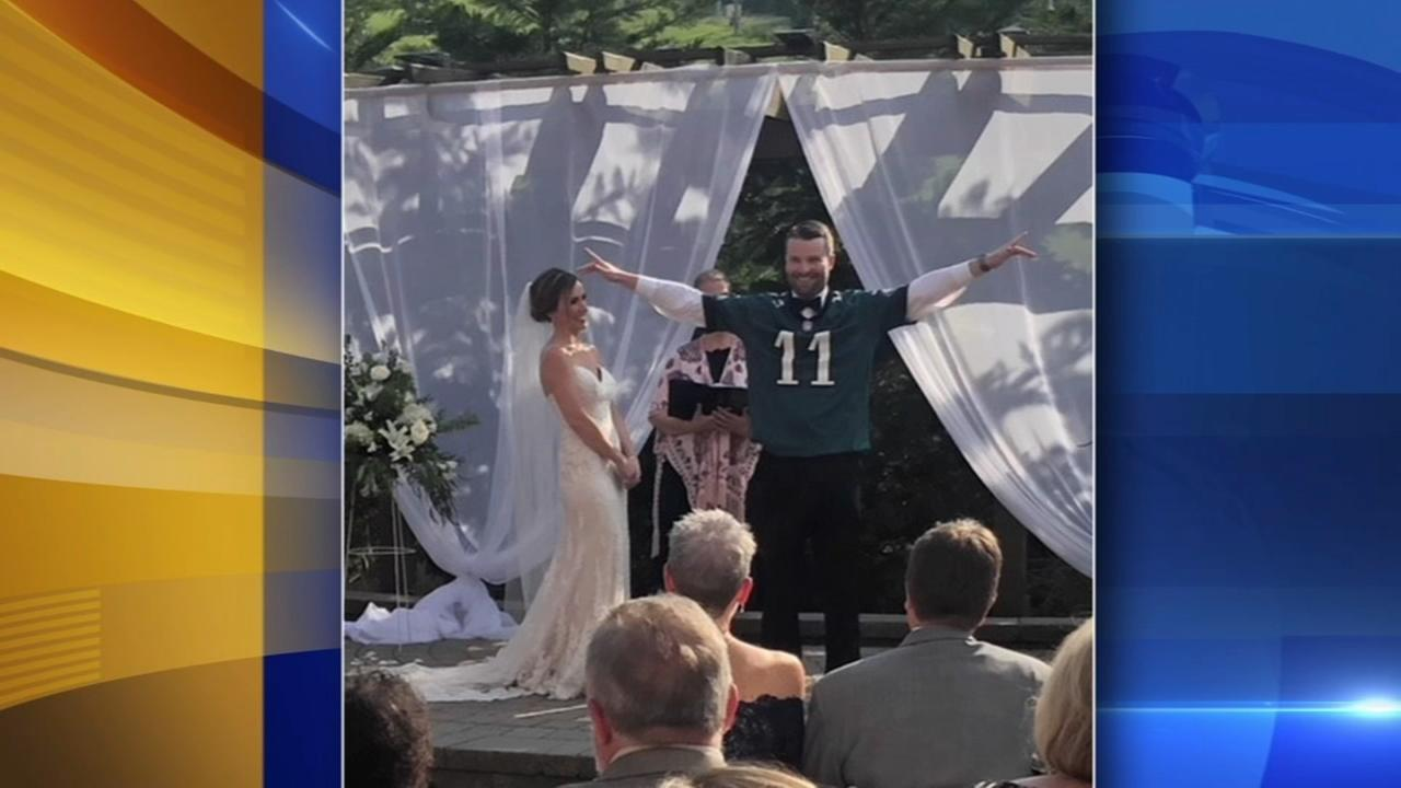 Montgomery County bride loses Eagles Super Bowl bet