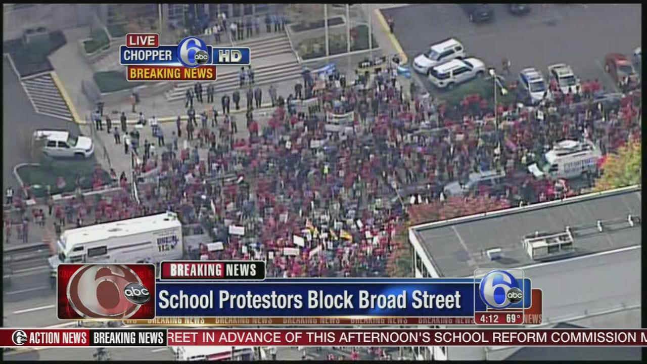 VIDEO: School protestors block Broad Street