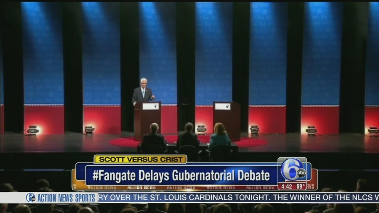 VIDEO: Fangate delays Florida Gubernatorial debate