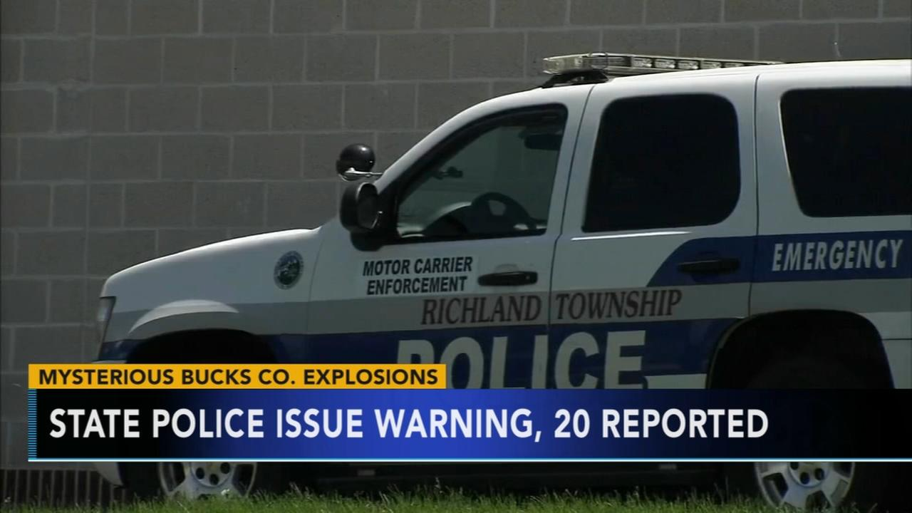 State police issue warning after mysterious explosions in Bucks Co.