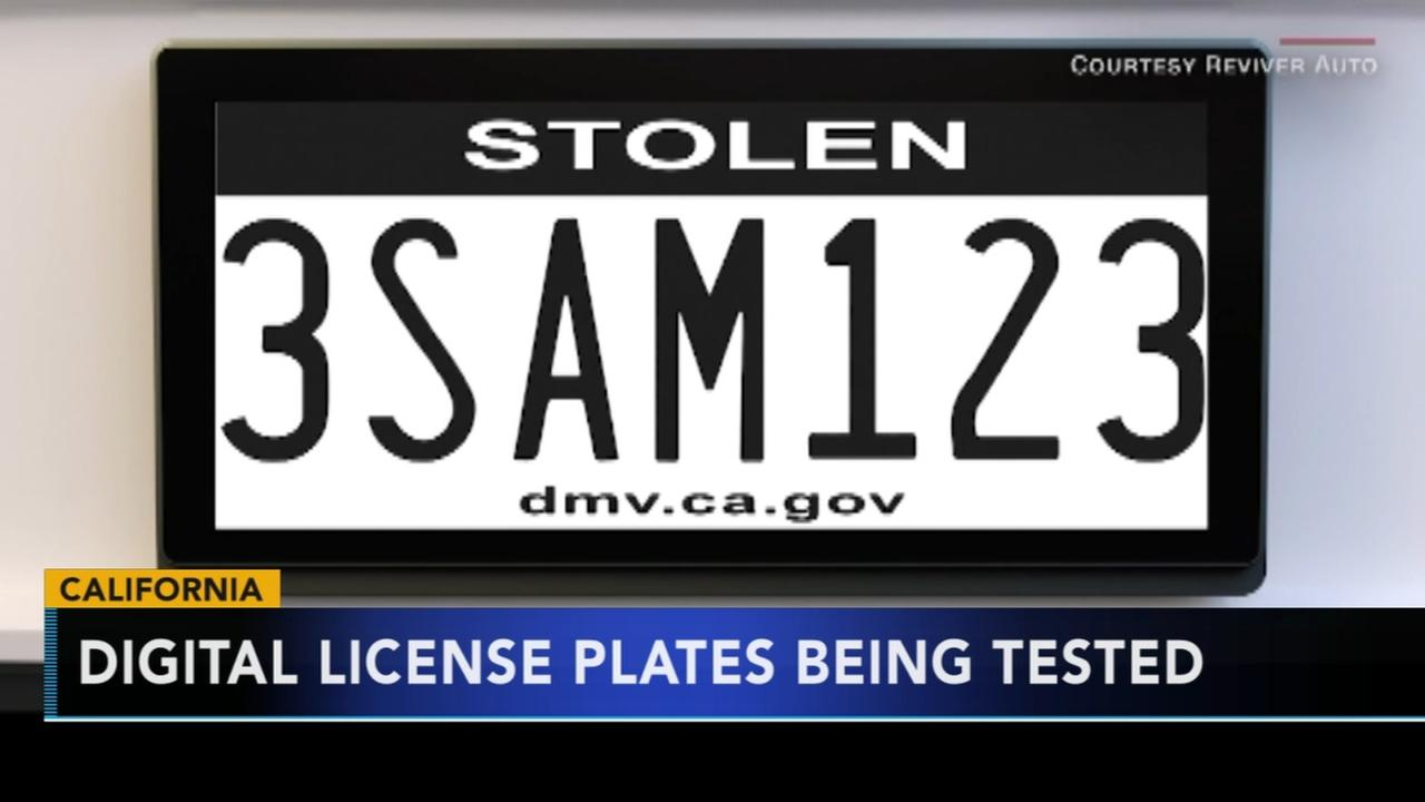 Digital license plates tested in California