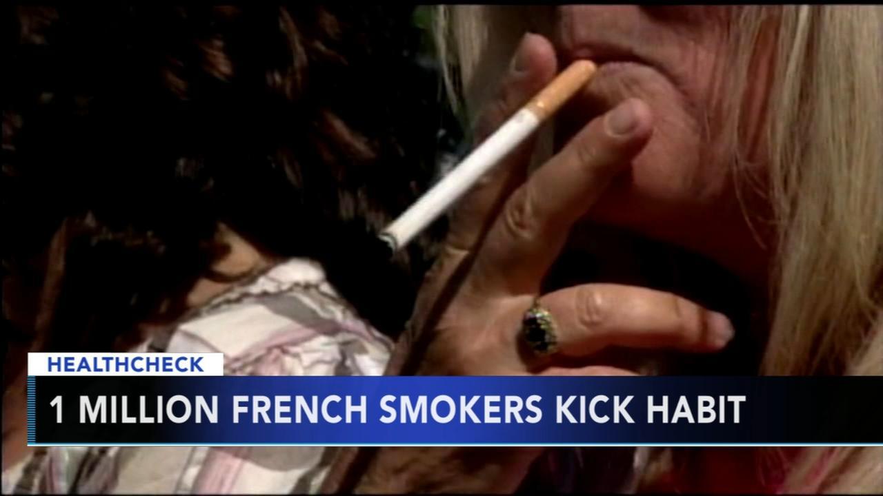 One million French smokers kick the habit
