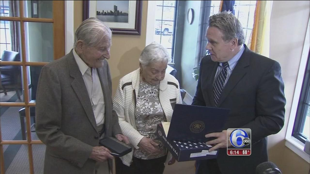 VIDEO: 70 years later, Ocean Co. WWII vet gets Purple Heart