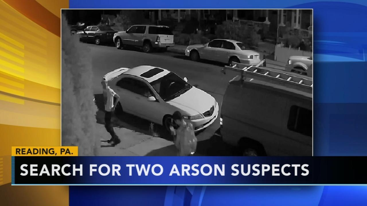 Reading police search for 2 arson suspects