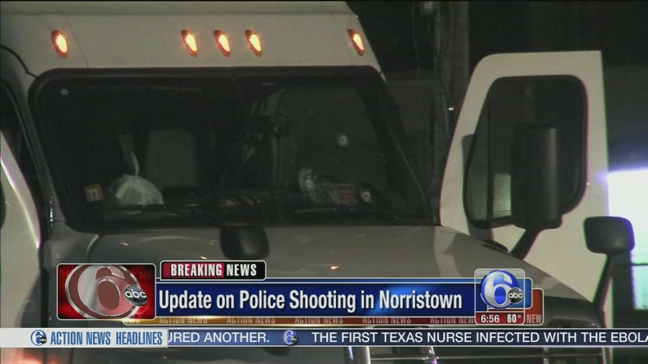 VIDEO: Tractor-trailer chase ends with police gunfire